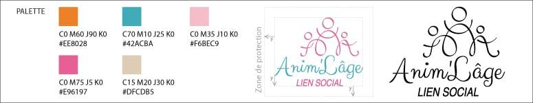 Charte Graphique minimale pour le logo de Anim'Lâge