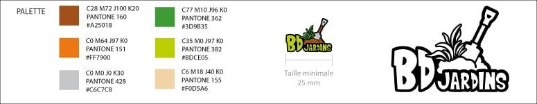 Charte Graphique minimale pour le logo de BDJardins