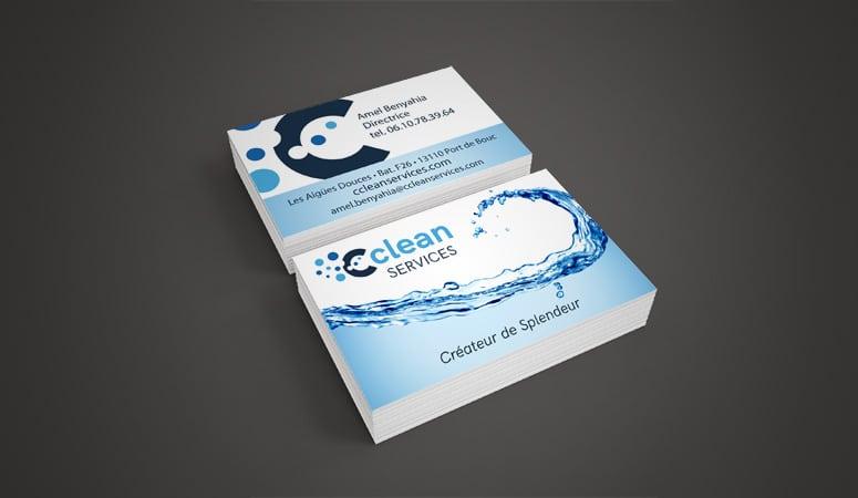 Creation des Cartes de Visite de Cclean Services