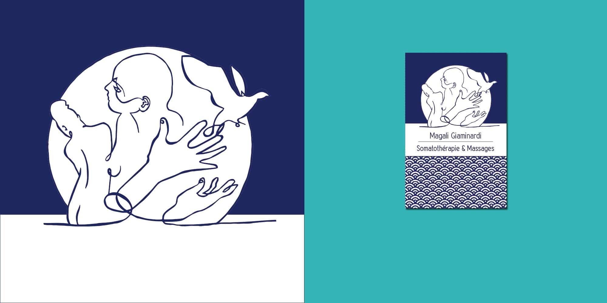 Création du logo d'une Somatothérapie