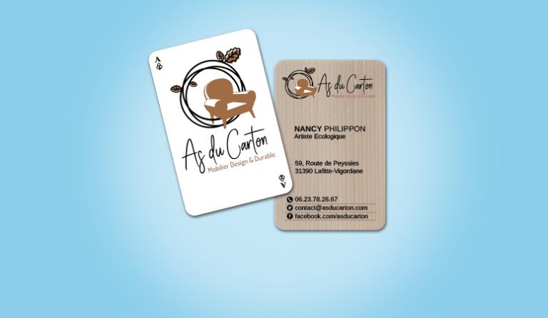 Creation des Cartes de Visite d'As du Carton