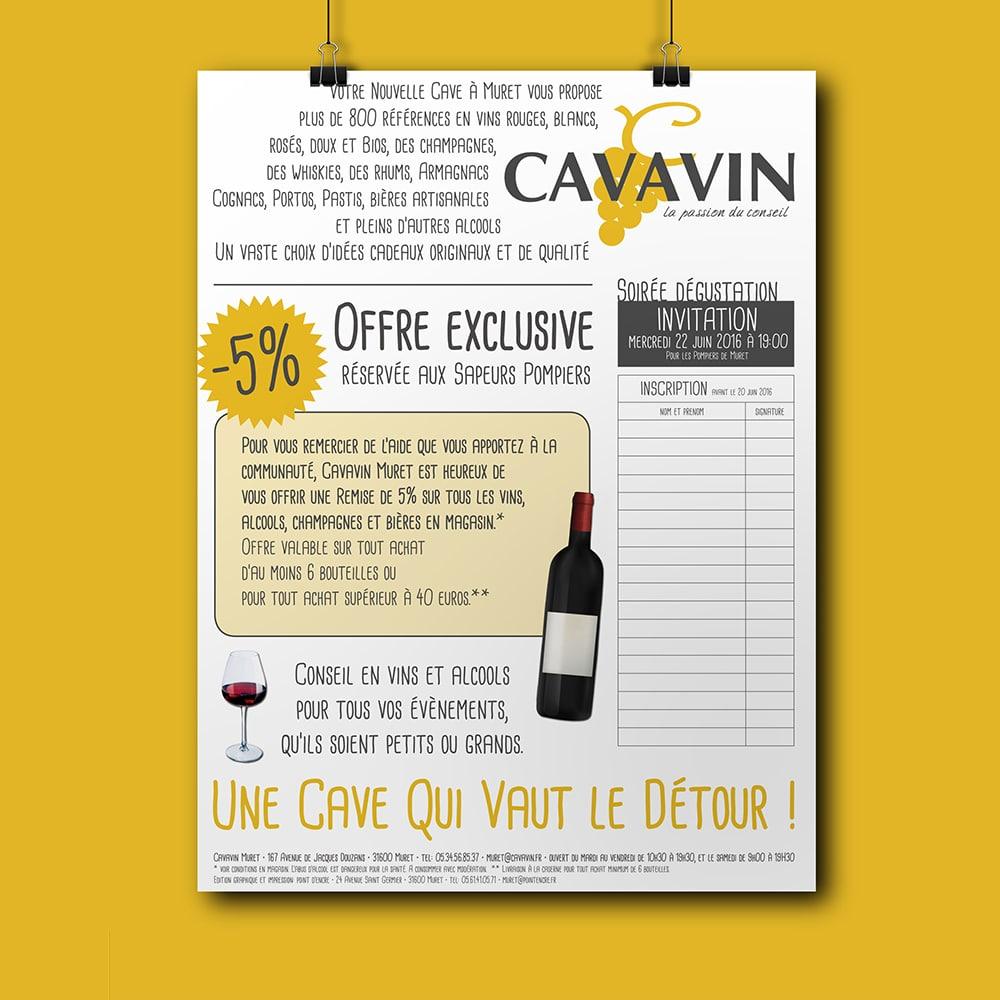 Création affiche | Cave à Vin | Graphiste à Muret