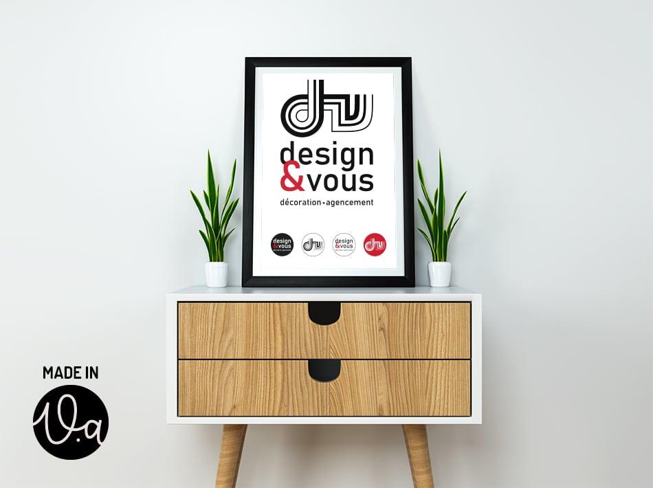 Création du logo Design&Vous, Graphiste à Muret