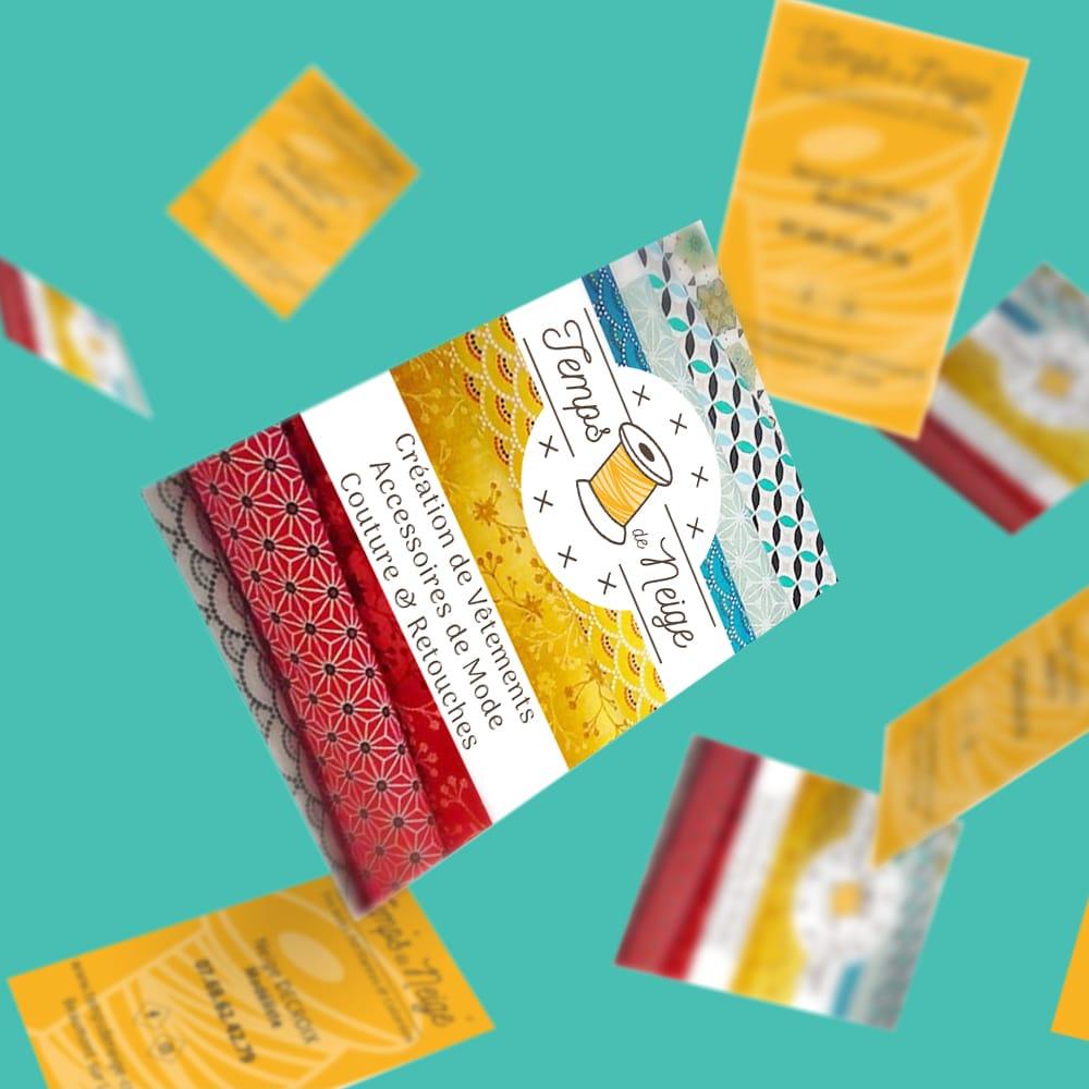 Création des cartes de visite d'une couturière