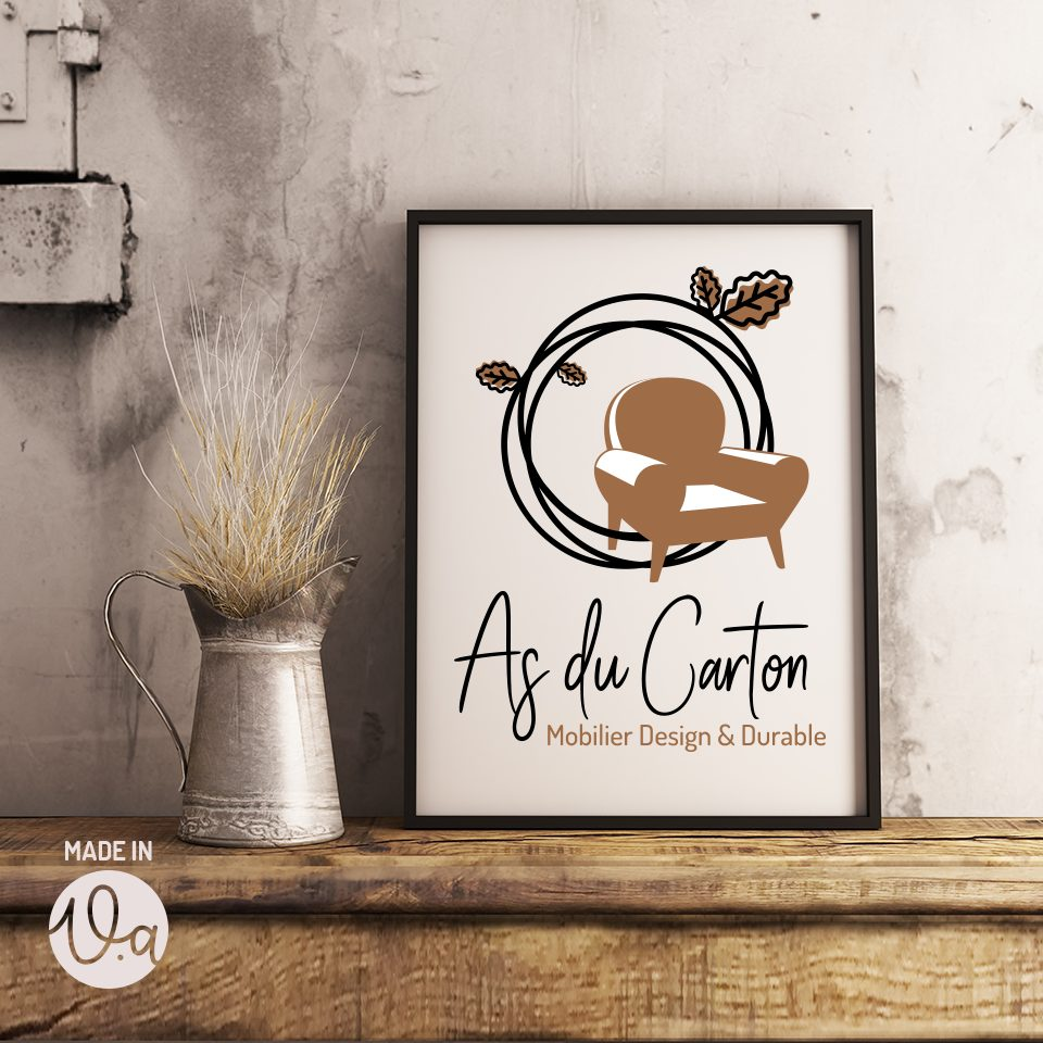 Création du logo d'une créatrice de meubles en carton